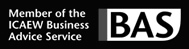 BAS logo - Member of the ICAEW Business Advice Service